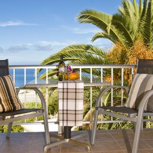 Terrace of the apartment Alicante overlooking the sea - Finca La Primavera, La Palma